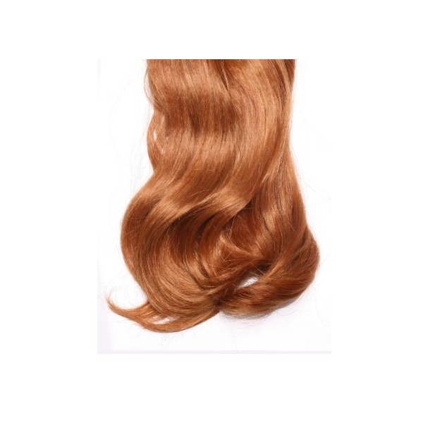 Curly Ginger full head synthetic clip in hair extensions
