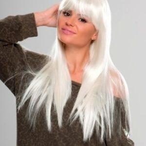Fifi - Extra long white wig with fringe