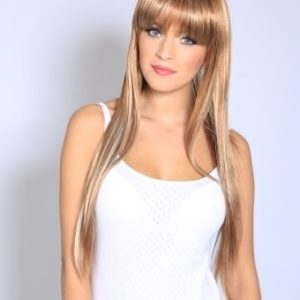 Hannah - Long light brown wig (with blonde highlights)