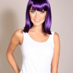 Lori - Dark purple wig (mid length bob)