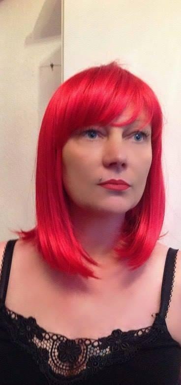 Bright Red Mid Length Wig Medium Bright Red Bob Wig Buy