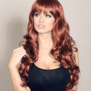 Ali - Dark red curly wig
