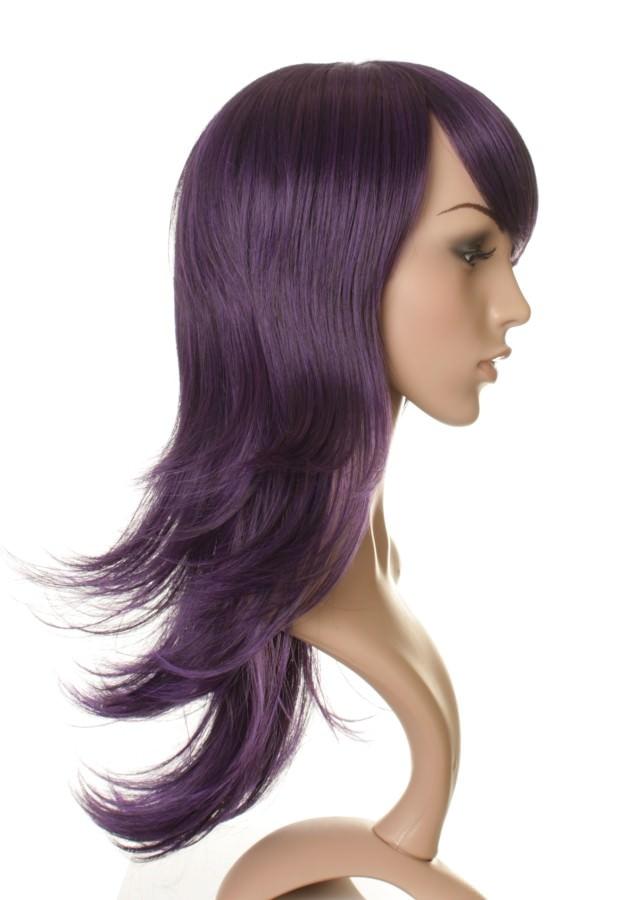 Black And Purple Human Hair Wig 27