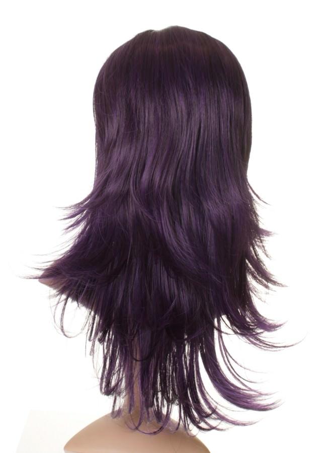 Black And Purple Human Hair Wig 97