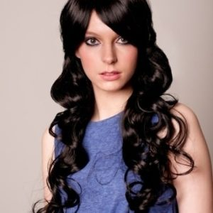 Chantell - Long black curly wig