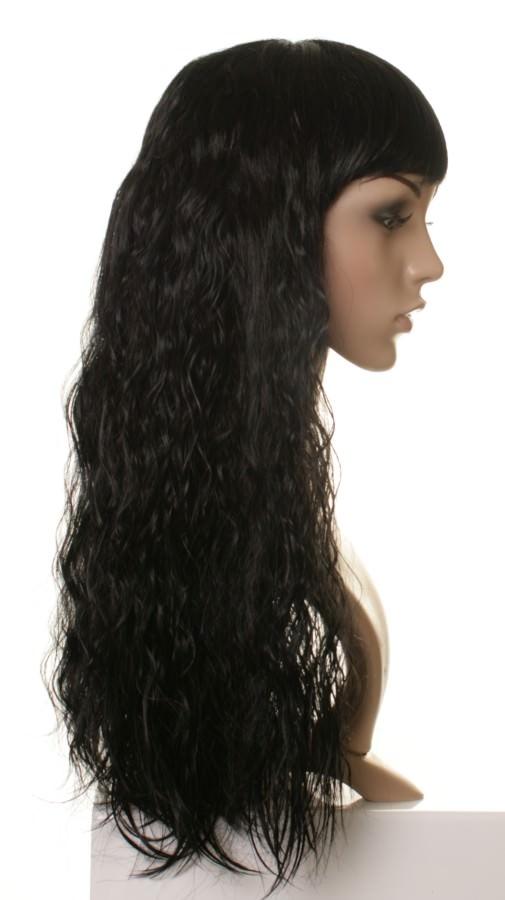 Nicki Minaj Style Black Crimped Wig