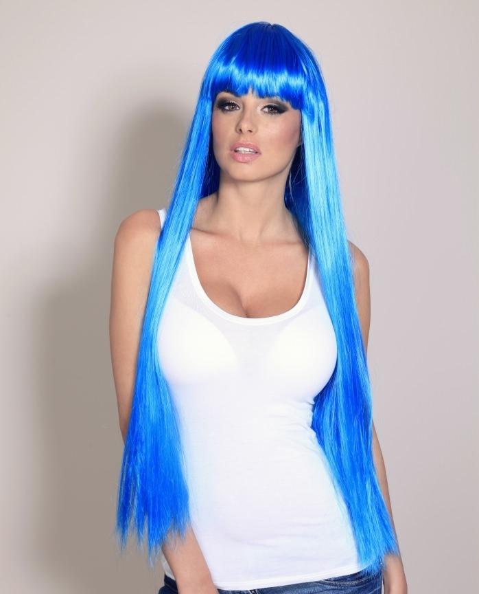 Long Blue Wig Extra Long Blue Wigs Buy Online Uk