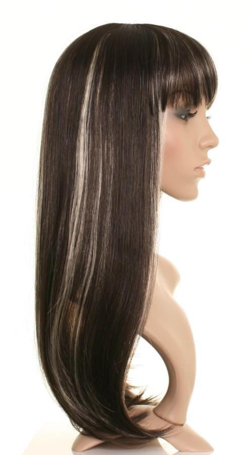 Sugar Long Dark Brown Wig With Blonde Highlights Wonderland Wigs