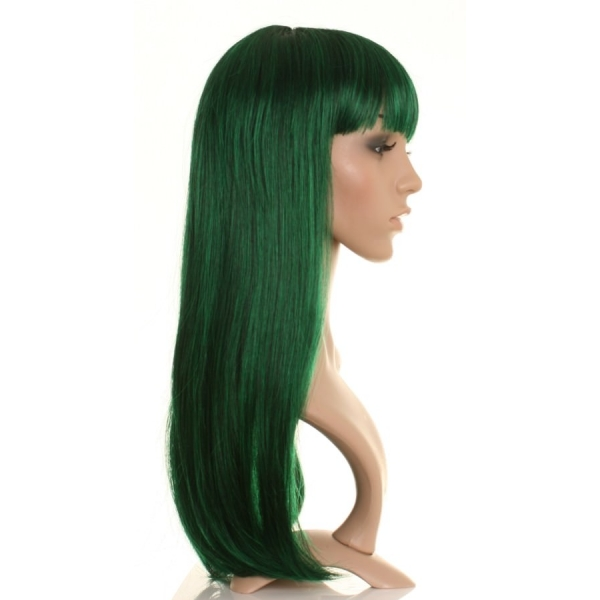 Tigzy Dark Green And Black Straight Wig Wonderland Wigs
