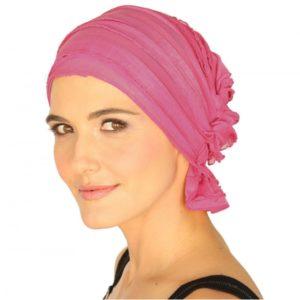 carol-chemo-beanie-pink-ruffle