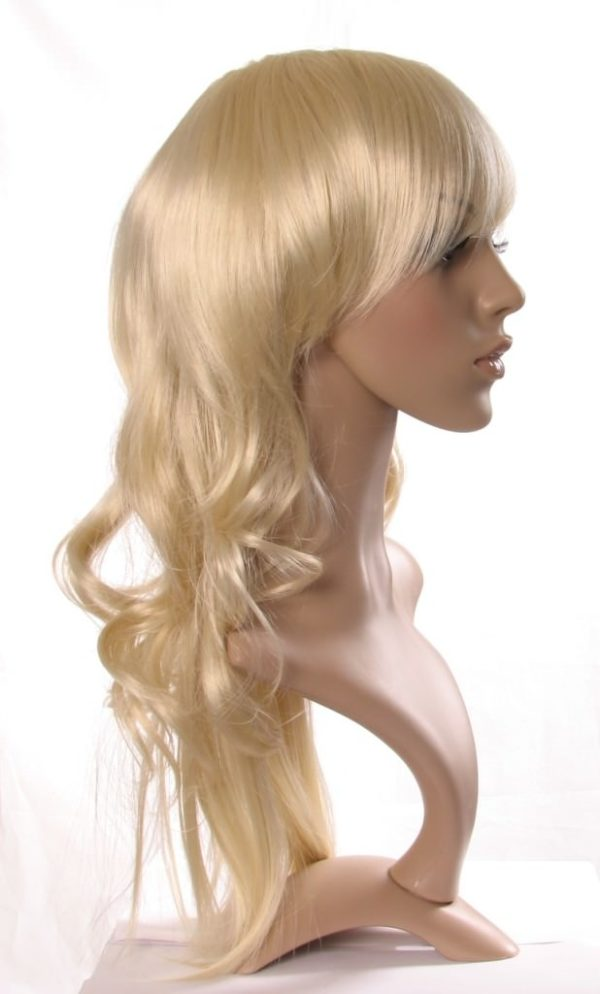 Emily - Long blonde wig (straight with barrel curls)