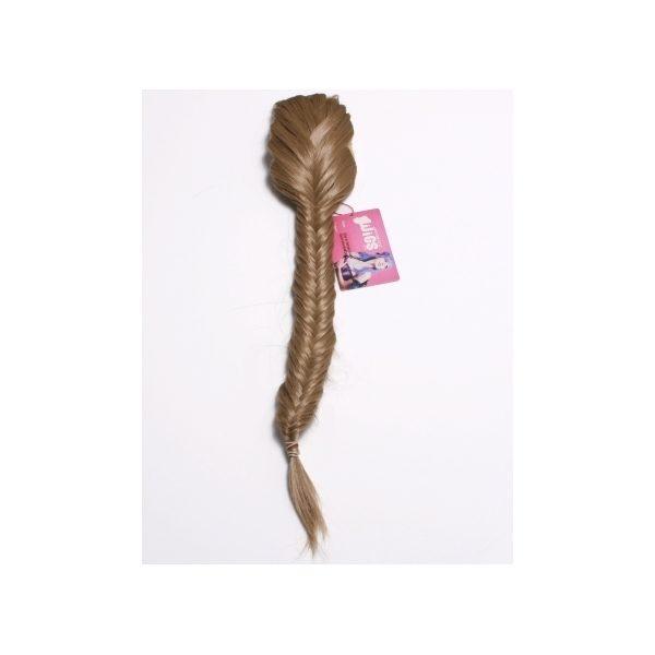 Dark Blonde clip in fishtail plait hairpiece