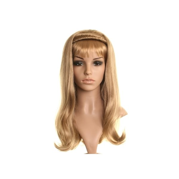 Dark Blonde fishtail plait headband half wig