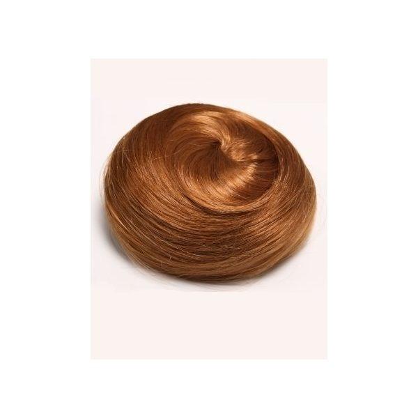 Ginger sleek messy clip in hair bun hairpiece