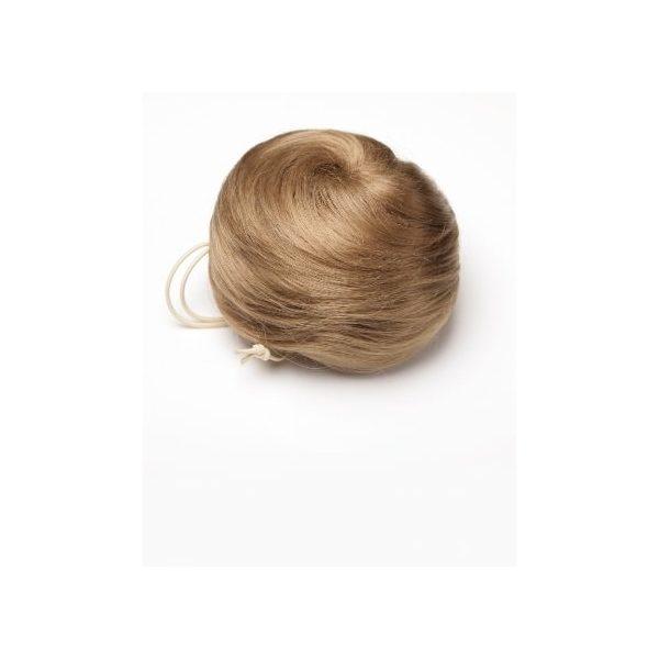 Dark Blonde sleek messy clip in hair bun hairpiece