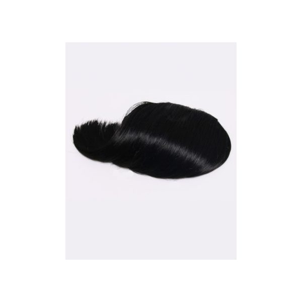 Black straight clip in fringe bangs hair piece