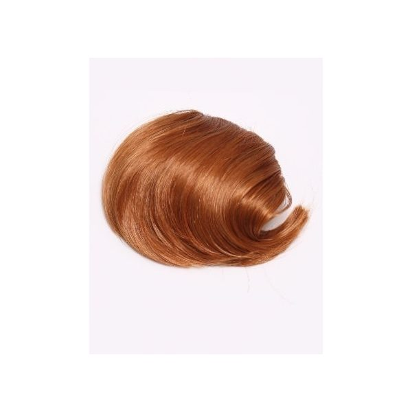 Ginger straight clip in fringe bangs hair piece