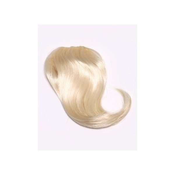 Blonde side clip in fringe bangs hair piece