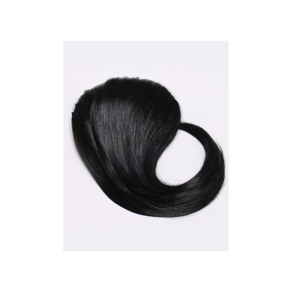 Black side clip in fringe bangs hair piece