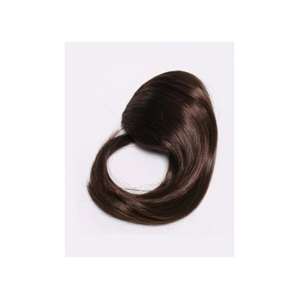 Dark Brown side clip in fringe bangs hair piece