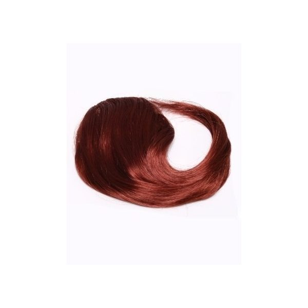 Dark Red side clip in fringe bangs hair piece