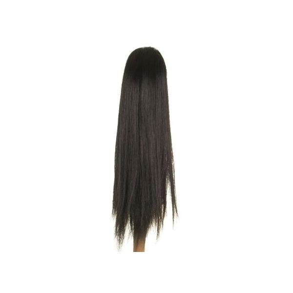 Straight clip in ponytail hairpiece in black