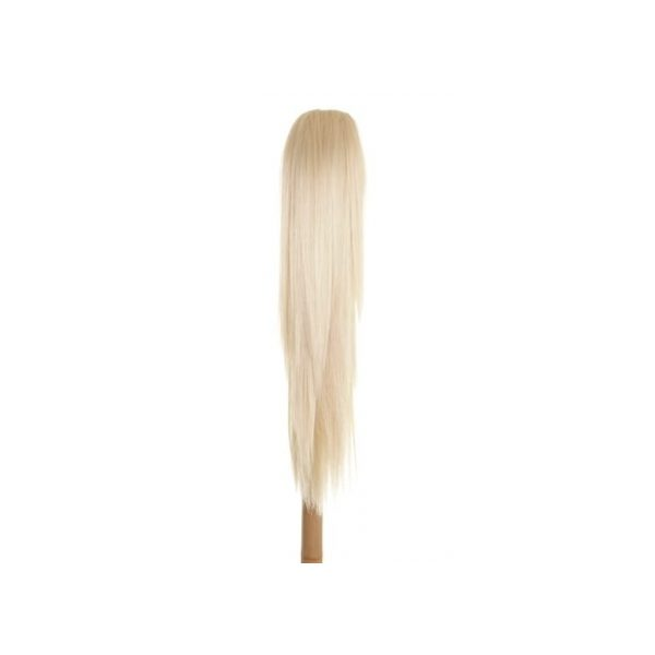 Straight clip in ponytail hairpiece in Blonde