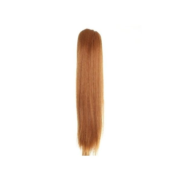 Straight clip in ponytail hairpiece in Ginger