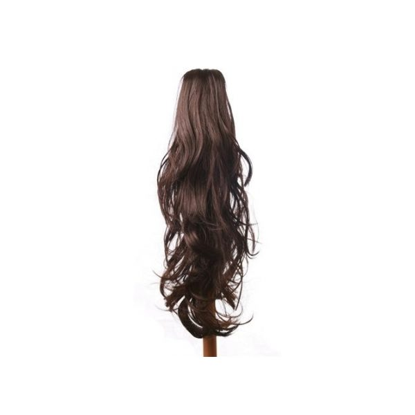 Flicked clip in ponytail hairpiece in Brown