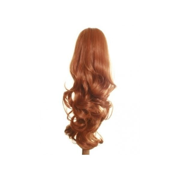 Flicked clip in ponytail hairpiece in Ginger