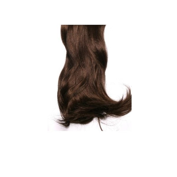 Curly Mid Brown full head synthetic clip in hair extensions
