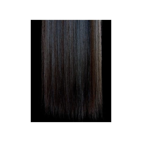 Straight Brown one piece synthetic clip in hair extensions
