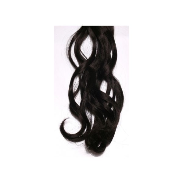 Curly Black one piece synthetic clip in hair extensions