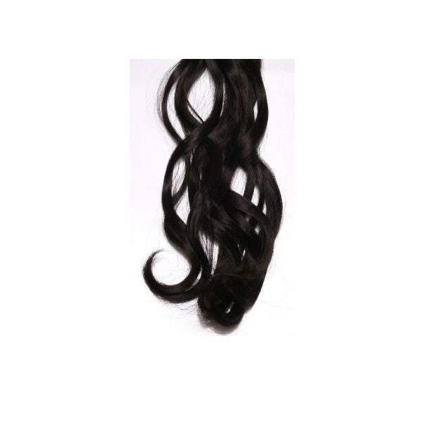 Curly Dark Brown one piece synthetic clip in hair extensions