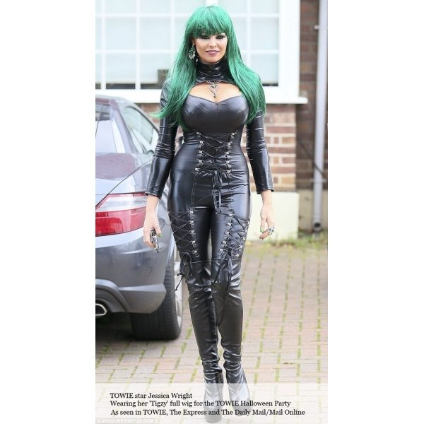Jessica_Wright_Long_Green_Wig_Wonderland_Wigs_Towie_UK