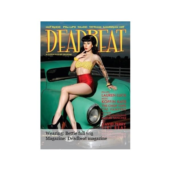 Dead_Beat_Magazine_Front_Cover_Long_Curly_Black_Wig_Wonderland_Wigs_UK
