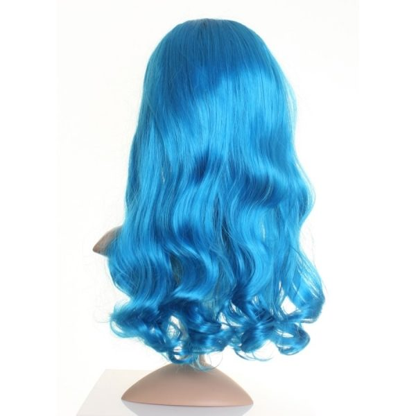 Perry - Katy perry blue wig (curly wavy)