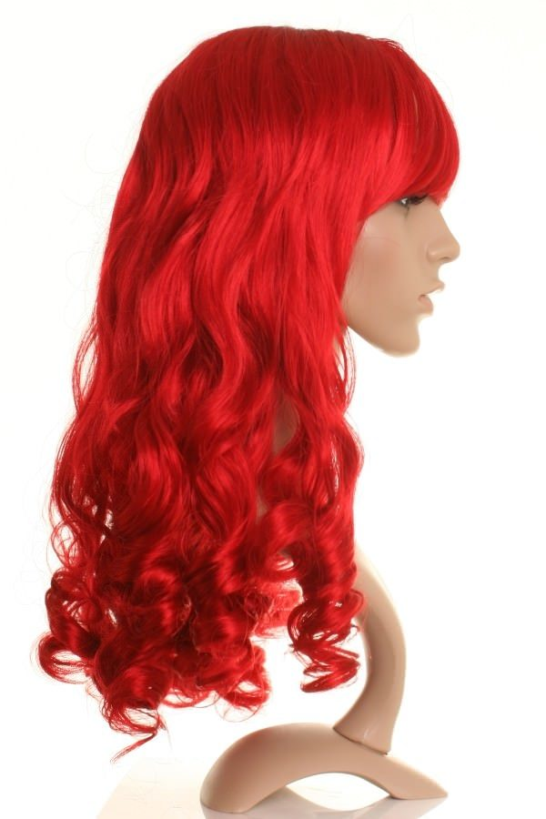 Paloma - Bright red curly wig