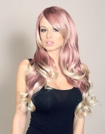 Miss Twirls - Red and blonde wig