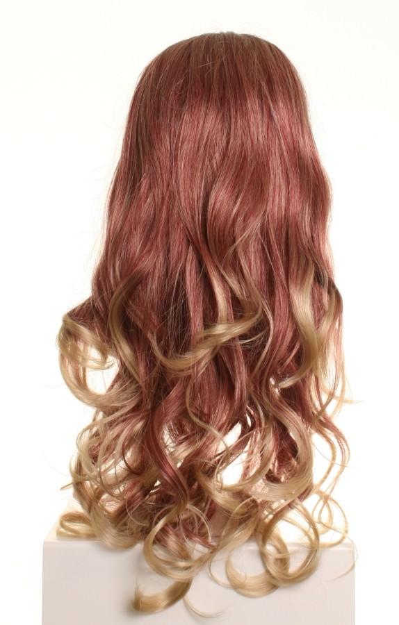 Miss Twirls - Dark red and blonde wig
