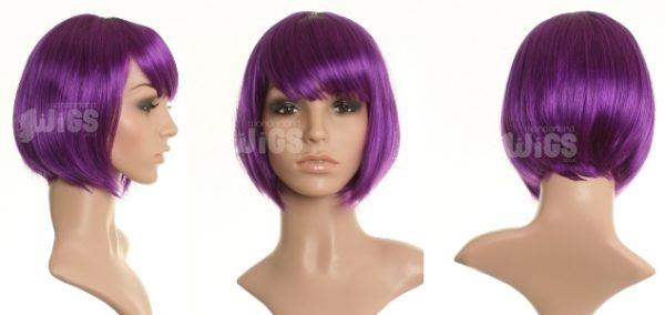 Ree Ree - Short dark purple bob wig