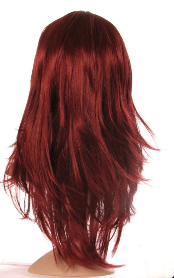 Cassy - Long dark red wig (razor cut and layered)