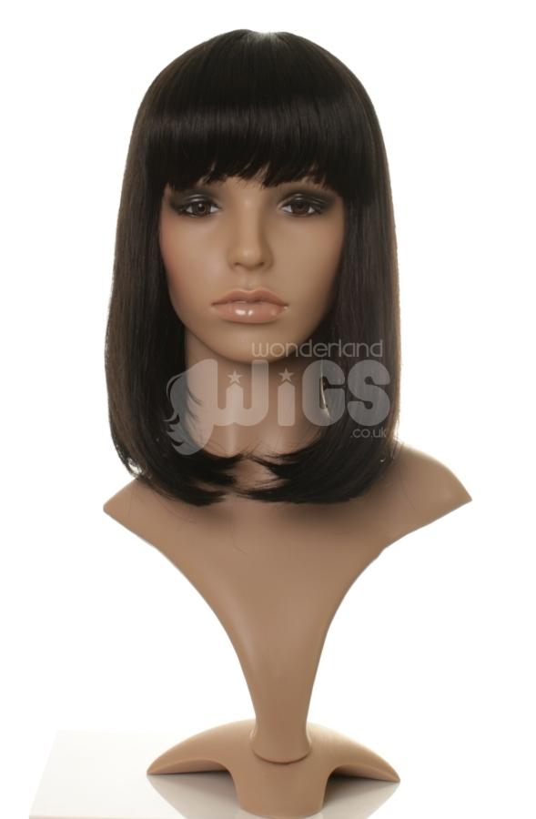 Natalie - Straight black mid-length wig