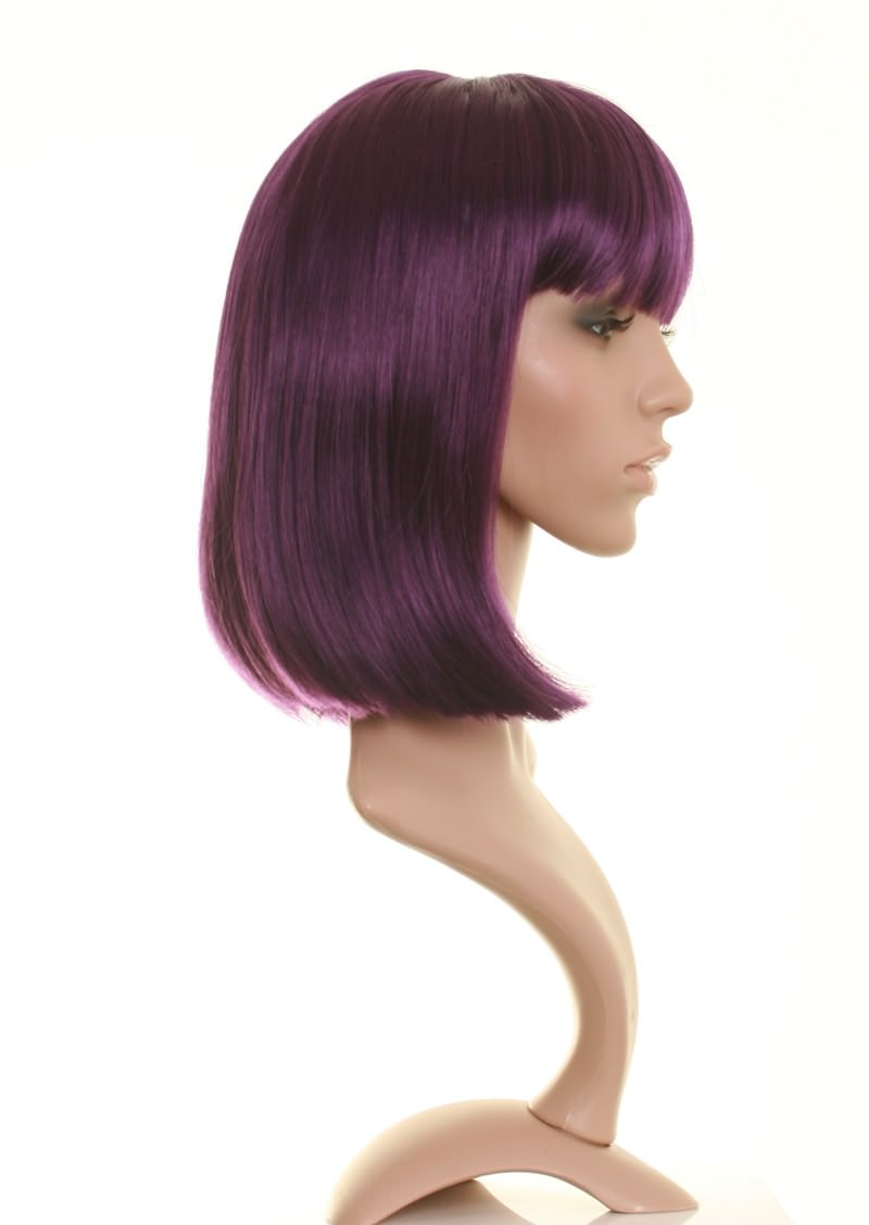 Dark Purple Wig Chic Dark Purple Bob Wigs Good Quality Uk
