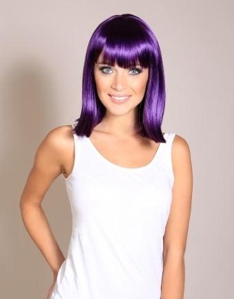 Lori - Dark purple wig (mid length bob)