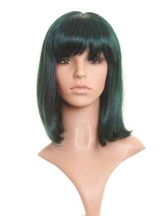 Jade - 3-tone Blue Black and Green Aqua Wig