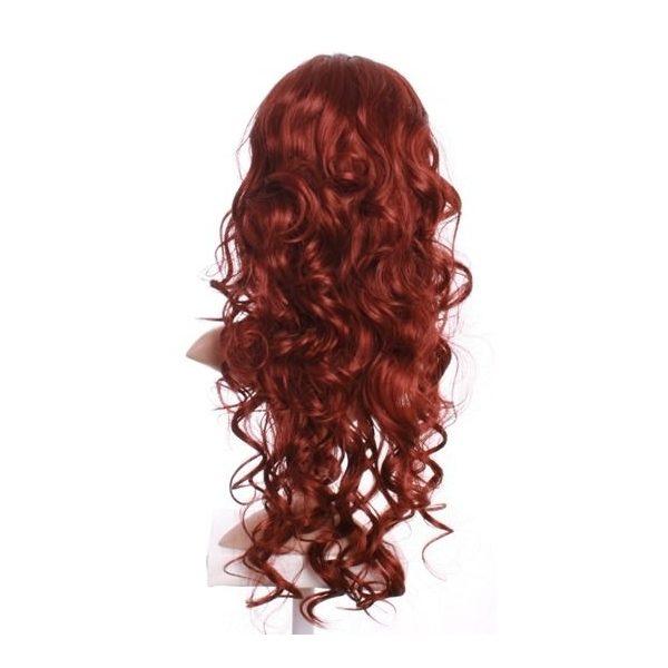 Ali - Dark red curly wig