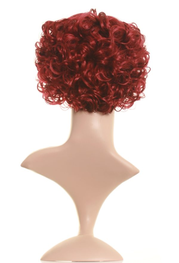 Tilly - Dark red curly bob wig pinup style bob