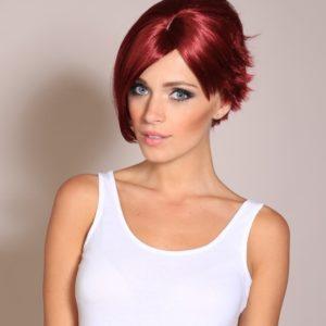 Ari - Dark red Victoria Beckham wig (choppy bob wig)