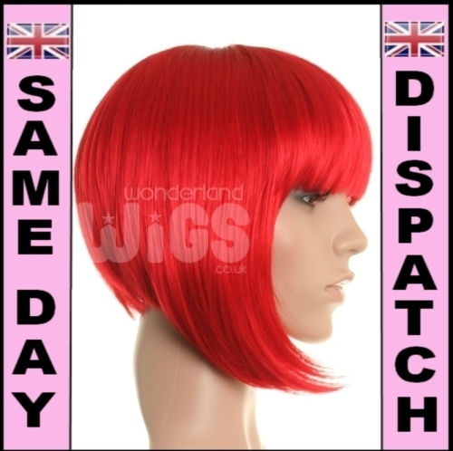 Miss Red - Bright red bob wig